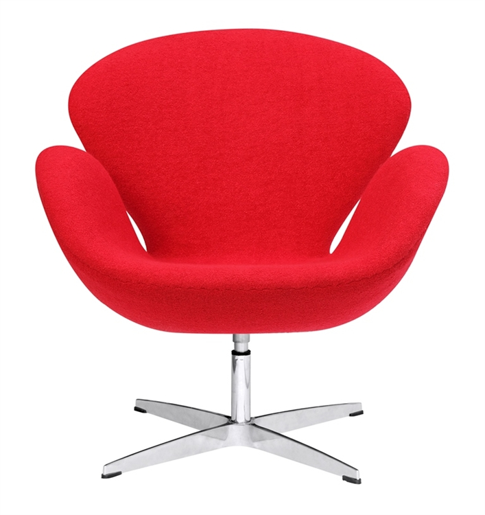 arne jacobsen swan chair makeup table fine mod imports in red wool