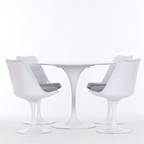 tulip table and chairs folding tables set eero saarinen style dining 42 4 fine mod imports