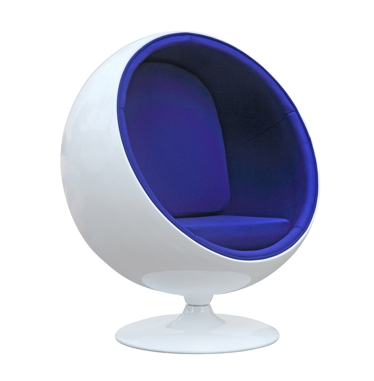 ball chairs asian dining fine mod imports eero aarnio style chair blue interior