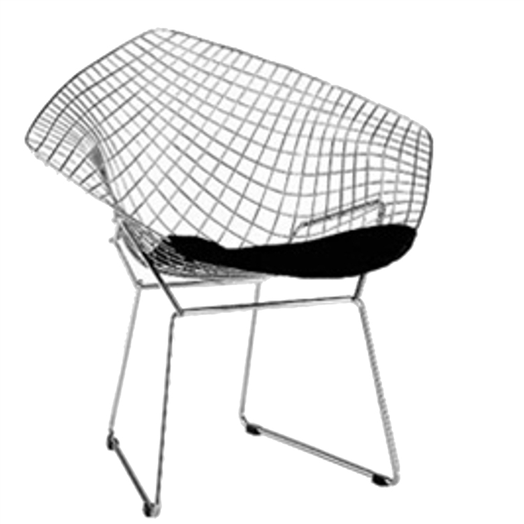 bertoia wire chair original animal print shoe fine mod imports style diamond larger photo