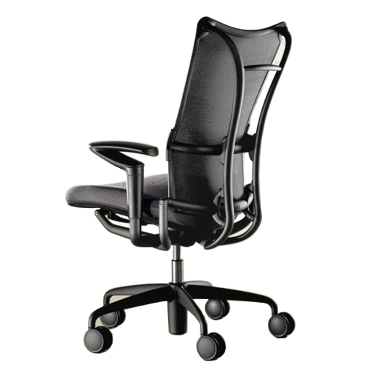 allsteel task chair leather reception room chairs 19 office in black