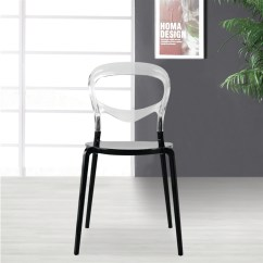 Acrylic Side Chair With Cushion Wedding Covers Rental In Chennai Evo Dining Our