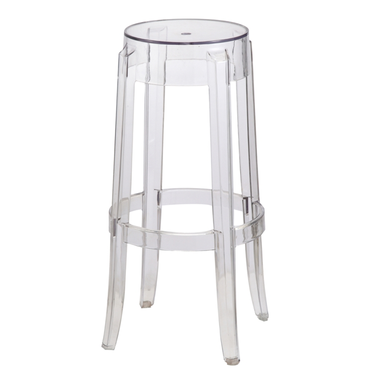 ghost chair bar stool vinyl folding fine mod imports philippe starck style charles an error occurred