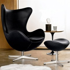 Jacobsen Egg Chair Leather King Umbrellas Fine Mod Imports Arne And Ottoman In