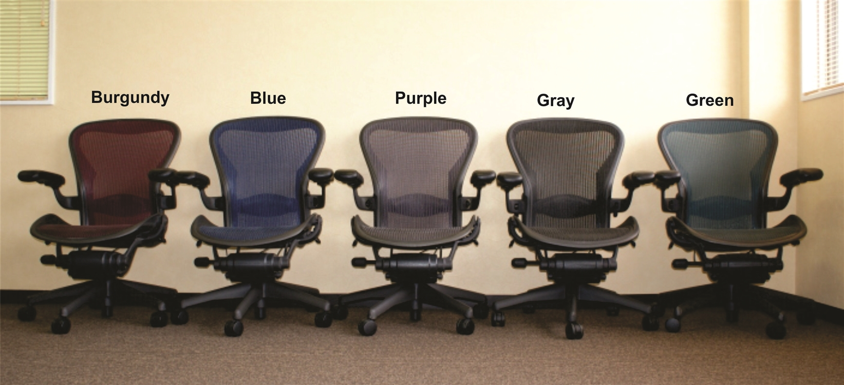 Herman Miller Office Chair Herman Miller Aeron Chair Size B Loaded With Options In Purple