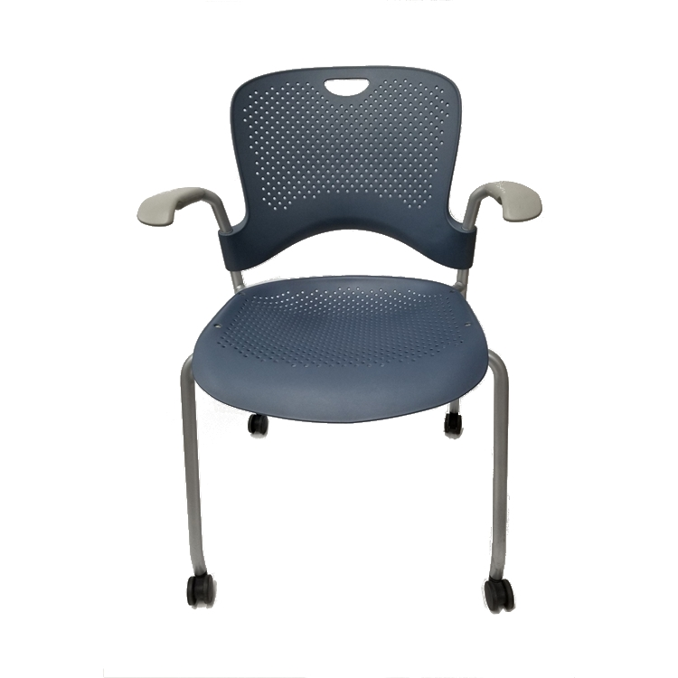 chair with wheels weave garden chairs herman miller caper side set of 12 larger photo