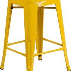 Backless Chair Height Stool Grey Spandex Covers Flash Furniture 24 High Yellow Metal Indoor Outdoor Counter With Square Seat