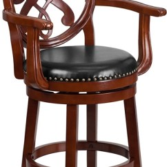 Counter Height Arm Chairs Rocking Chair Template Flash Furniture 26 High Cherry Wood Stool With Arms Larger Photo