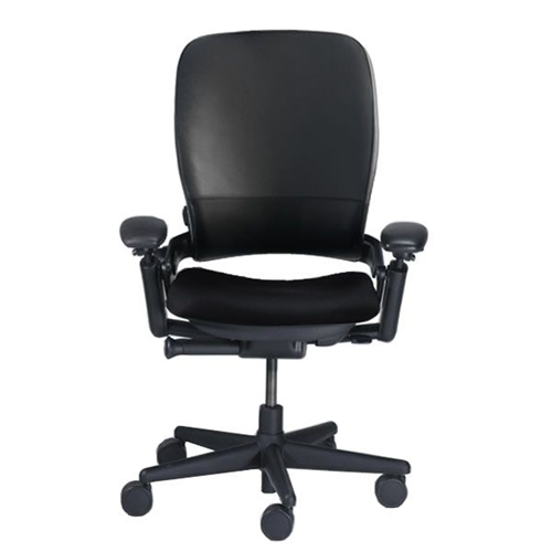 steelcase leap chair tween table and chairs in leather v1 black