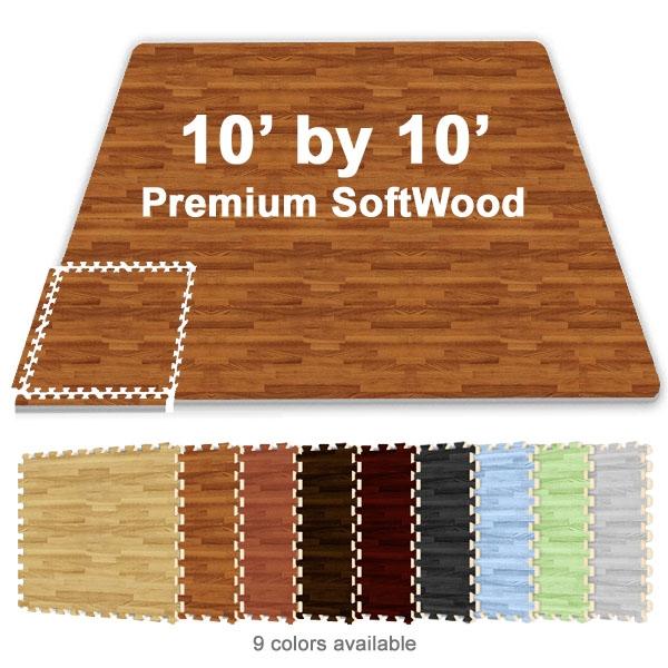 10 ft x 10 ft premium interlocking soft wood tile tradeshow booth flooring