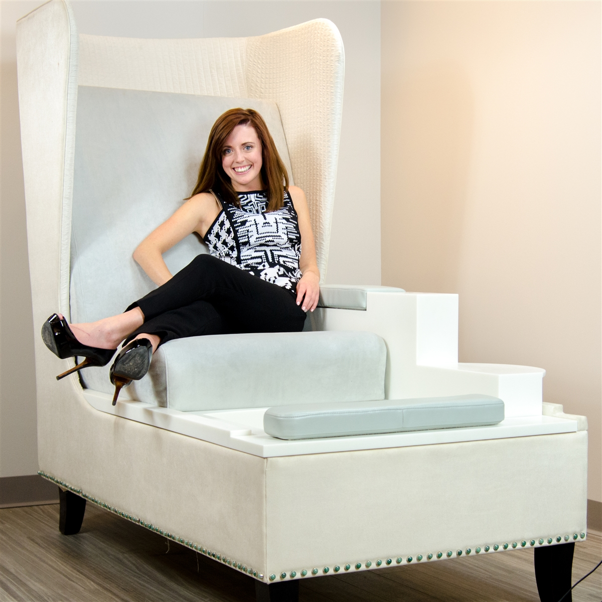 Pedicure Chair Blue Label Throne And Foot Spa Pedicure Chair For Nail Salon