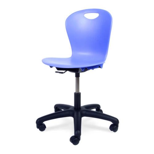 chair with wheels boon flair high pink virco ztask18 zuma series mobile task