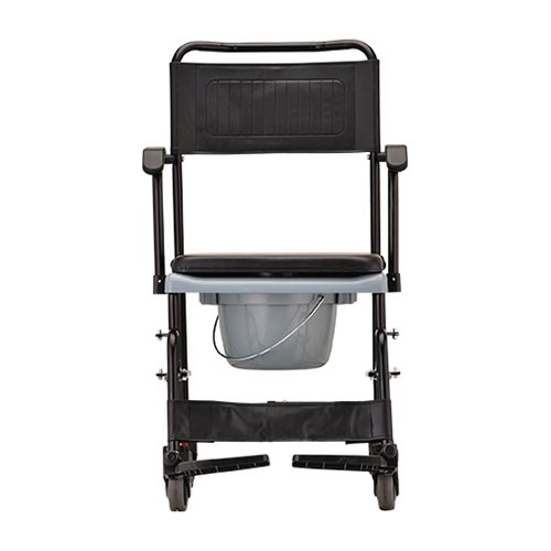 shower chair with wheels and removable arms wheelchair sports nova 8805 drop arm commode rolling