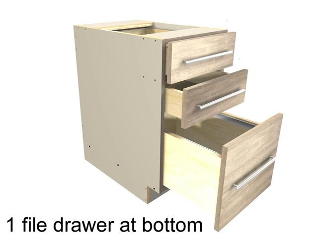 File drawer base cabinet 1 file drawer at bottom two