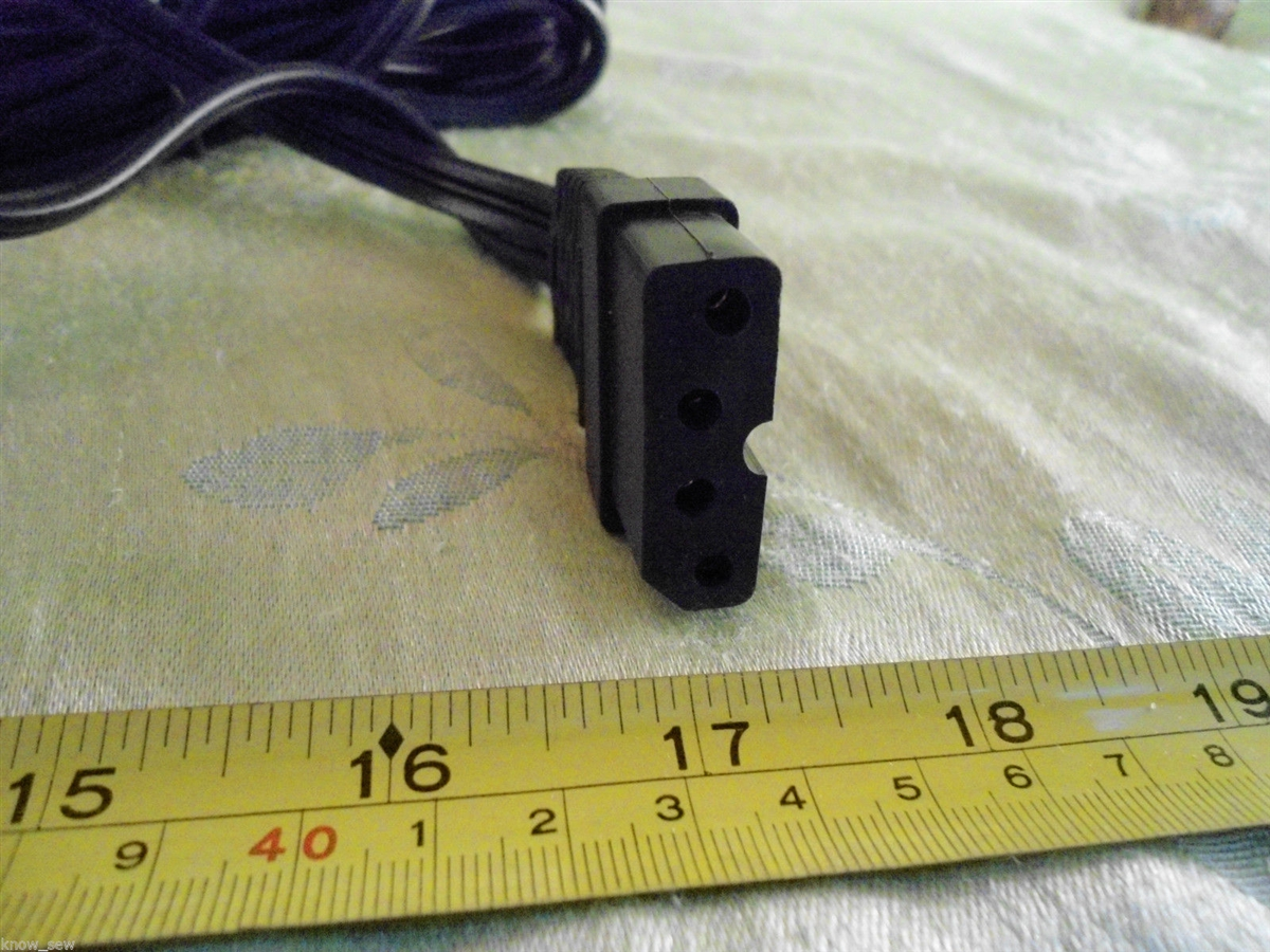 foot control pedal cord fits bernina bernette 334ds 335d mo334 mo334d mo334ds [ 1200 x 900 Pixel ]