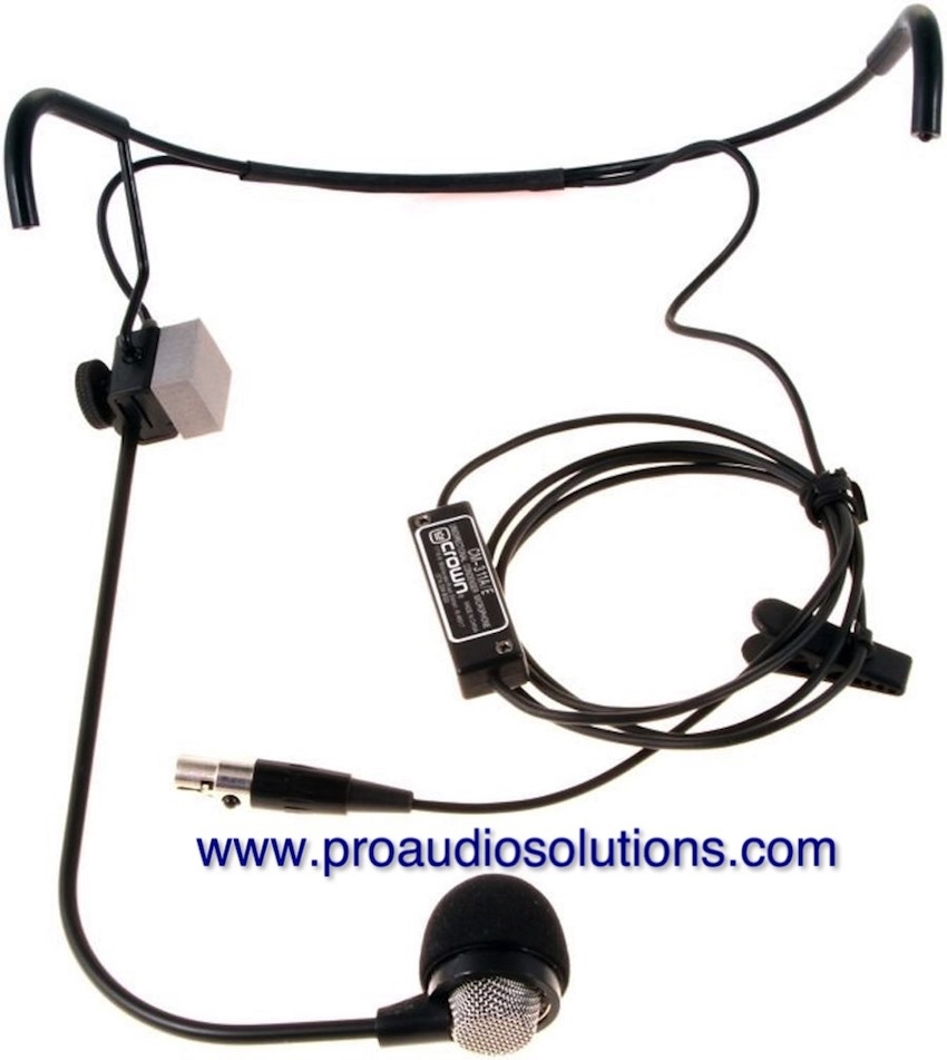 medium resolution of crown cm311l cardioid headset wired for akg w ta3f
