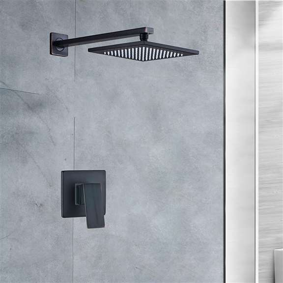 fontana oil rubbed bronze 12 inch bathroom rain shower system one week sale with led color