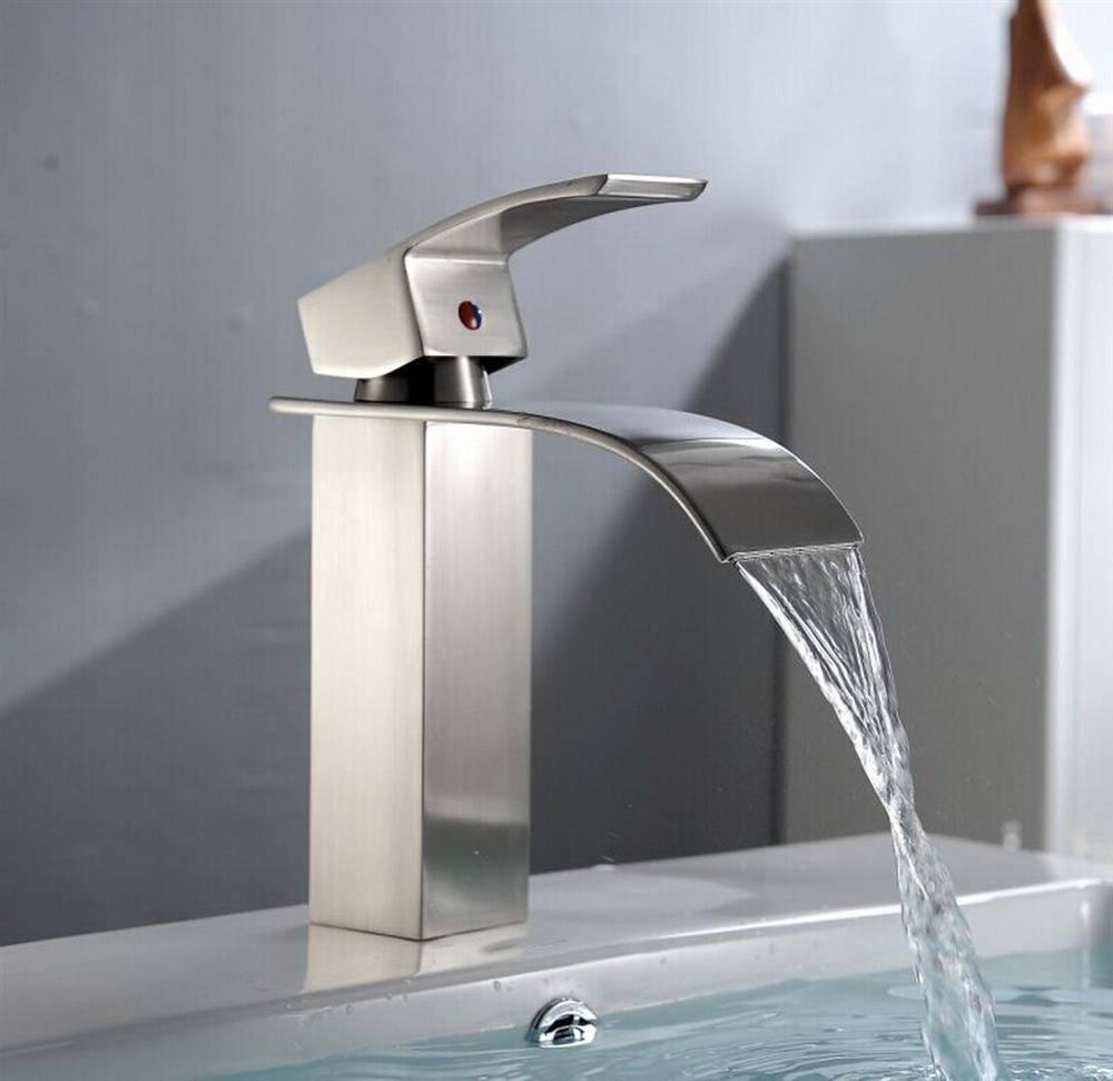 kamloops stainless steel bathroom sink faucet