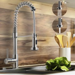 Brushed Nickel Kitchen Faucet With Sprayer Commercial Cleaning Constantine Sink Pull Down Is A Modern In Finish For Freedom Of Movement And Ease Use