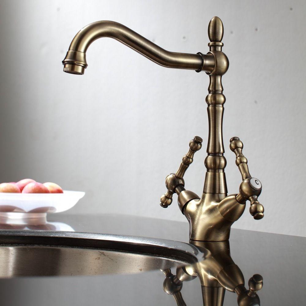 antique bronze kitchen faucet navy blue decor piedmont deck mounted headquarters