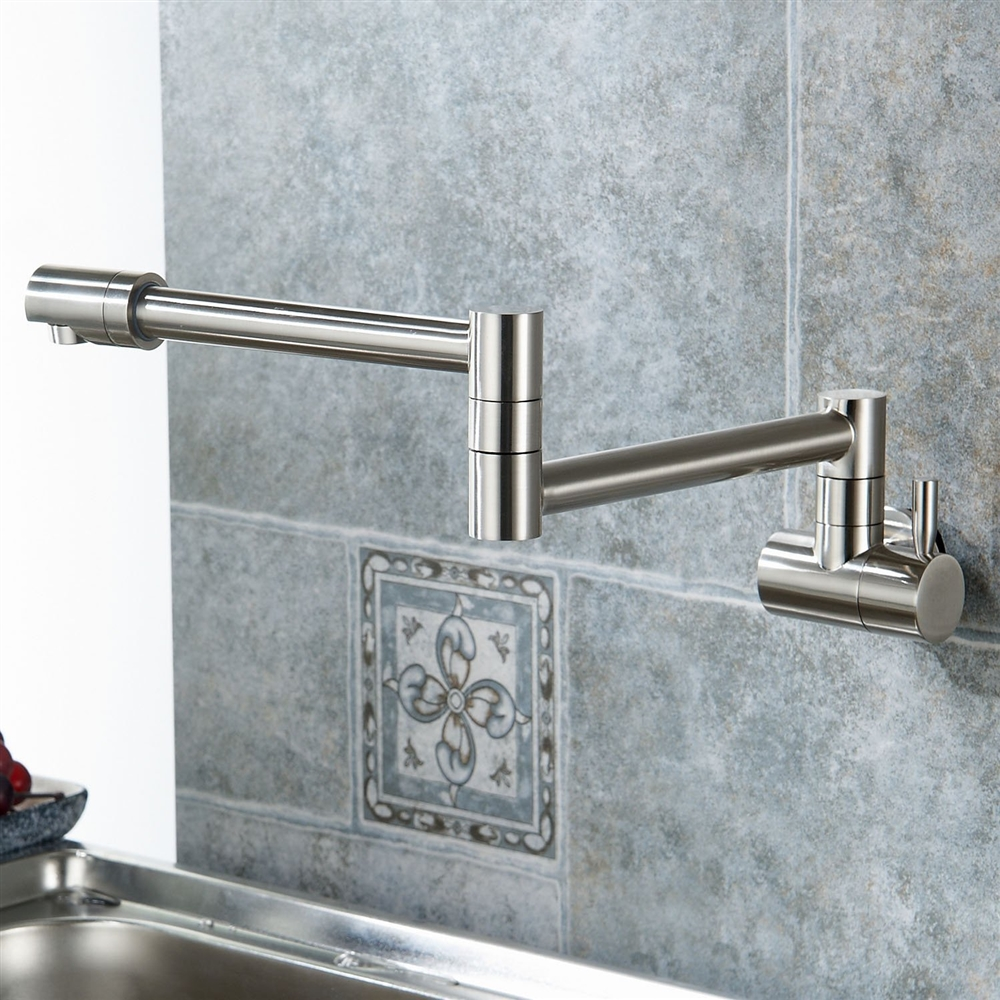 annaba wall mount double joint kitchen sink faucet