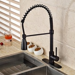 Oil Rubbed Bronze Kitchen Sink Dining Room Light Fixtures Tindouf Faucet With Pull Down Sprayer