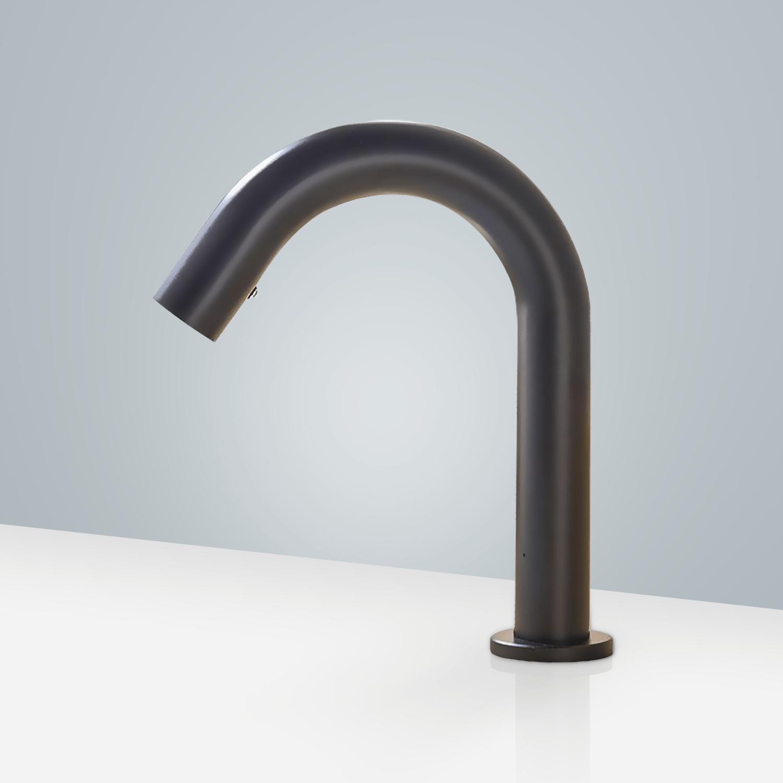 fontana brio commercial matt black touchless volume automatic sensor hands free faucet