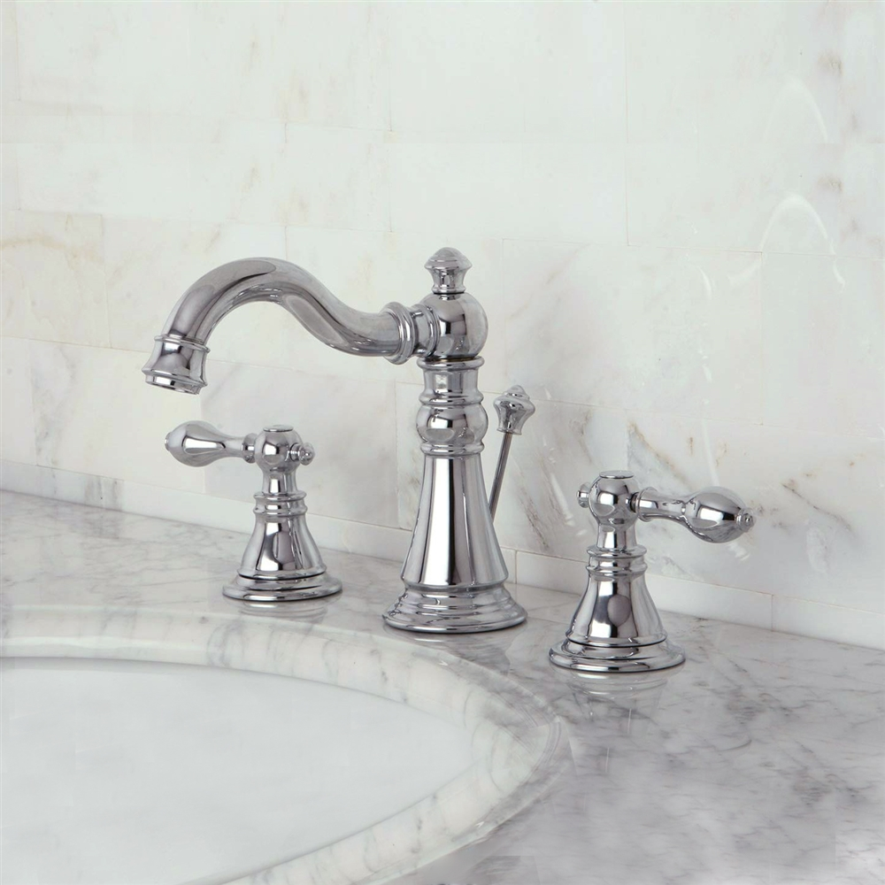 fontana colwood dual handle chrome bathroom sink faucet