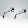 fontana reno chrome finish wall mount dual automatic commercial sensor faucet and soap dispenser