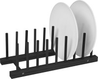 Plate Holder - Black Finish - For 8 Plates Made From ...