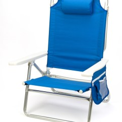 Beach Chair Pillow With Strap Leather Wingback Chairs For Sale 5 Position Aluminum Frame By Trademark Chr 5bch Bu 2 Jpg 1448438247