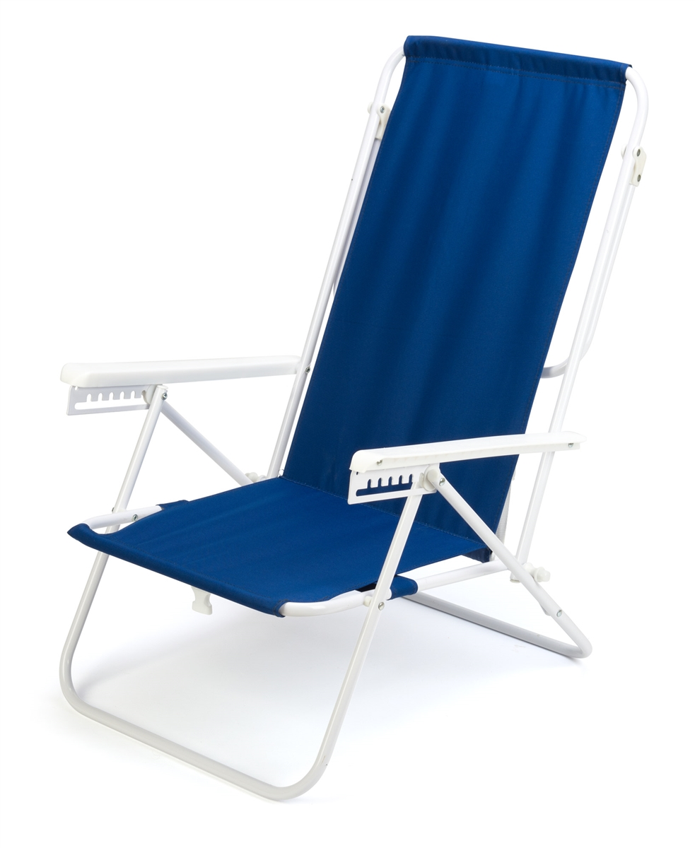 7Position High Back Steel Tube Beach Chair by Trademark