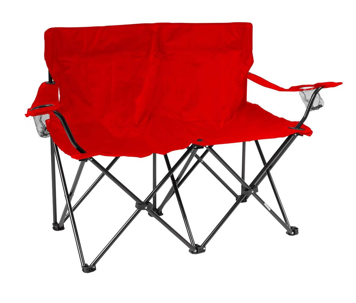 double camping chairs folding mid century modern dining chair loveseat style camp with steel frame by trademark db seat red 2 jpg 1448028635