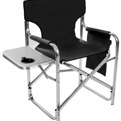 Aluminum Directors Chair Forza Horizon 2 Gaming And Canvas Folding Director S With Side Table By Trademark Innovations Black 31 5