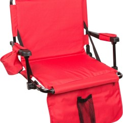 Stadium Chairs For Bleachers With Arms Yellow Modern Dining Chair Hooks Arm Pads Leg Padding By Trademark Innovations Red