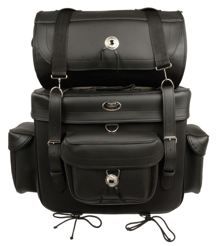 Touring Motorcycle Sissy Bar Luggage Bag by Milwaukee