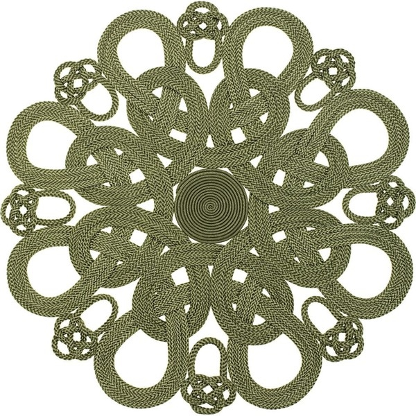 daisy placemat green by
