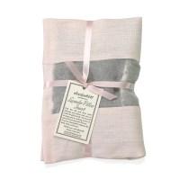 Elizabeth W - Lavender Pillow Insert in Pink Linen