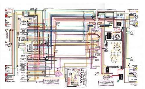 Golf Cart Turn Signal Wiring Diagram 1967 81 Firebird Laminated Color Wiring Diagram 11 Quot X 17 Quot