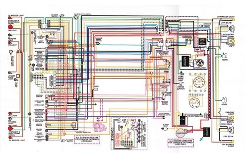1967  81 Firebird Laminated Color Wiring Diagram 11