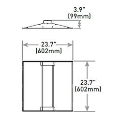 cree zr22 32l 35k 10v 2x2 led recessed troffer 3200 lumens 35 watt 3500k
