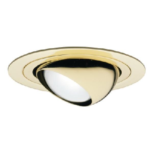 halo recessed 998pb 4 line voltage adjustable eyeball trim for h99 housings 30 degree tilt polished brass trim with polished brass eyeball