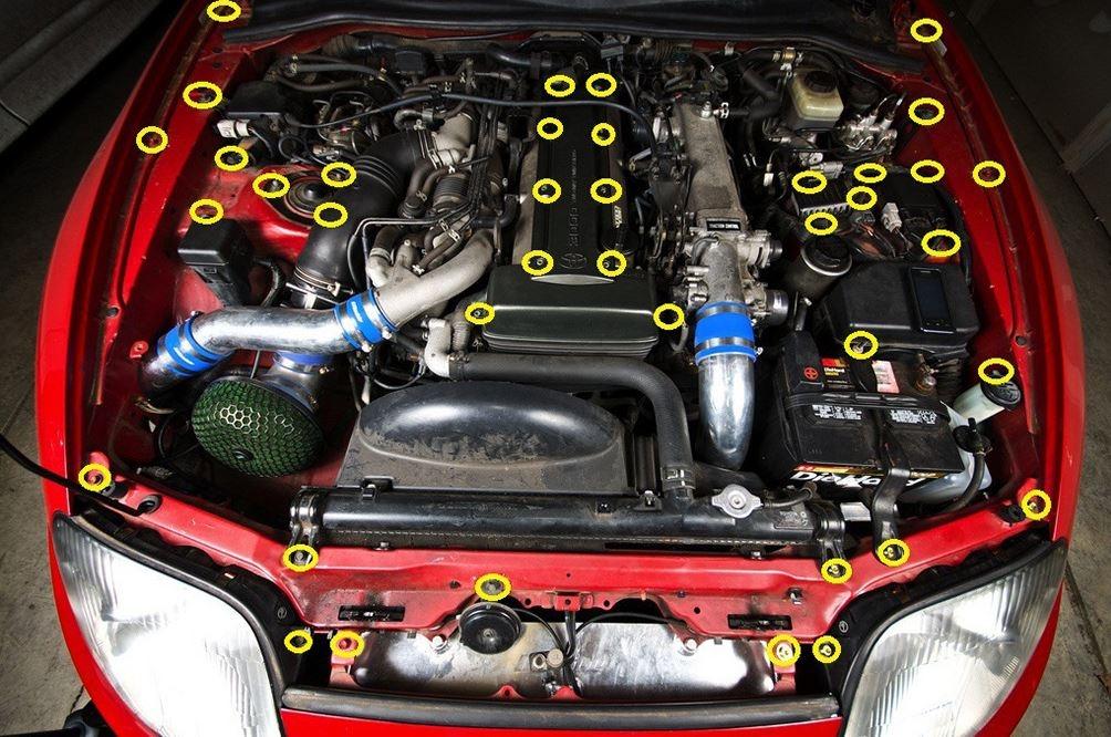 2jz Ge Engine Diagram Mk4 Supra 2jz Gte Engine Bay Dress Up Bolt Kit