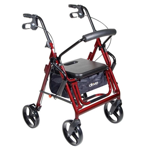 nova transport chair clear plastic desk duet rollator combo with 8 inch casters by drive medical