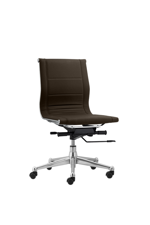 task chair without arms salon chairs for sale used florence hotel guest room leather brown mid black