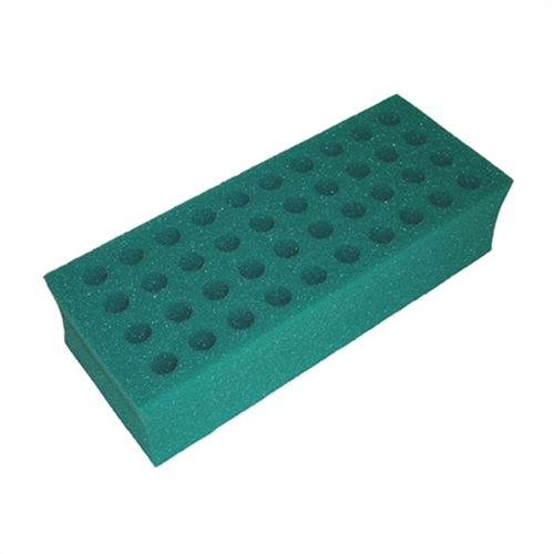 brick test tube rack 16mm foam 40