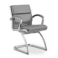 office side chairs chair stand white guest and for client use at boca raton modern leather