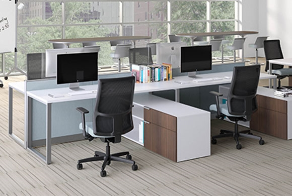 Hon Abound Segmented Tile modular cubicle desks from Boca