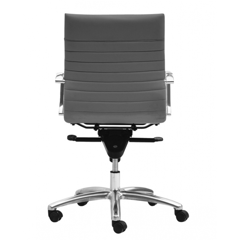 Zetti Grey Leather Conference Room chairs