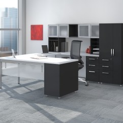 Brown Office Guest Chairs Ikea Tobias Chair Review Mayline E5 Open Plan Benching Desk System At Boca Raton Furniture.
